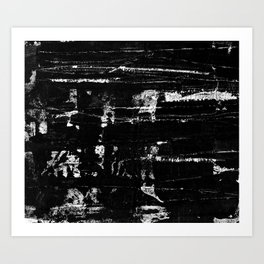 Distressed Grunge 102 in B&W Art Print