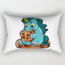 Happy Chubby Unicorn full figured cookie BBW Rectangular Pillow
