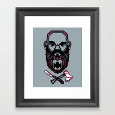 Wild BEARd Framed Art Print