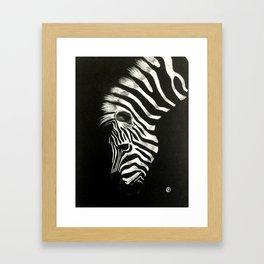 Zebra in pastel Framed Art Print