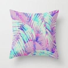 Maui Palm {Pink A} Throw Pillow