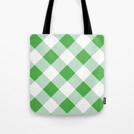 Gingham - Green Tote Bag