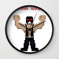 wreck it ralph Wall Clocks featuring Bane's Gonna Wreck It by LegoBatman