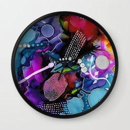 Dark Reef of Currant and Indigo Wall Clock