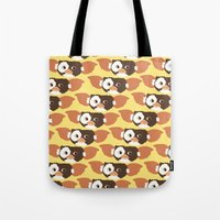 gizmo Tote Bags featuring gizmo by elvia montemayor