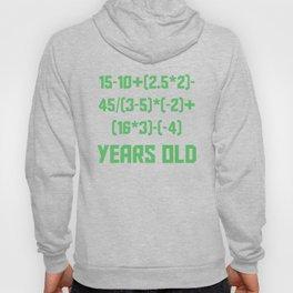 17 Years Old Algebra Equation Funny 17th Birthday Hoody