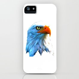 Eagle Tee For Bird Lovers With A Unique Illustration Of An Eagle Head T-shirt Design Fly High  iPhone Case