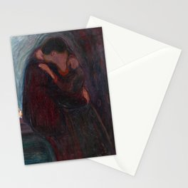 Edvard Munch - The Kiss, 1897 Stationery Cards