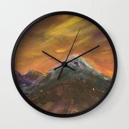 Sunset Mountains Wall Clock