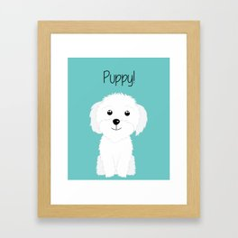 It is a puppy - National Puppy Day Framed Art Print
