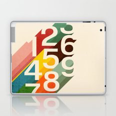 Retro Numbers Laptop & iPad Skin