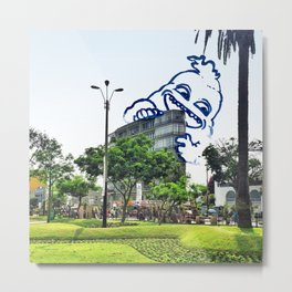 A friend came to visit Miraflores #eclecticart Metal Print