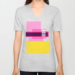 Bright Abstract II Unisex V-Neck
