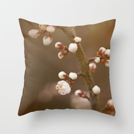 late sun blossoms Throw Pillow
