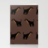 doberman Stationery Cards featuring Doberman - Pattern by Reimena Ashel Yee