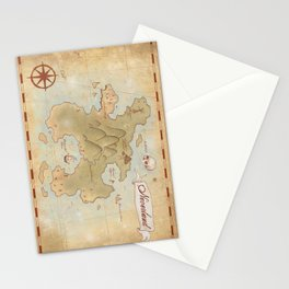 Map of Neverland Stationery Cards