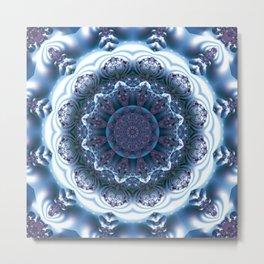 Snow Mandala Metal Print