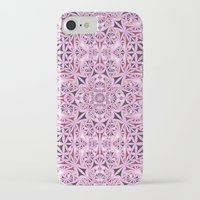 wallpaper iPhone & iPod Cases featuring Pink kaleidoscope wallpaper by David Zydd