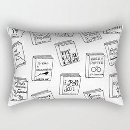 Bibliophilia (Titles) Rectangular Pillow