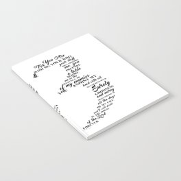 Psalm 23 Typography Notebook