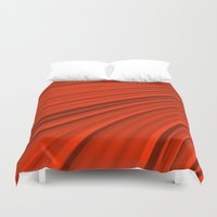 renaissance Duvet Covers featuring Renaissance Red by Charma Rose