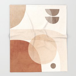 Abstract Minimal Shapes 16 Throw Blanket