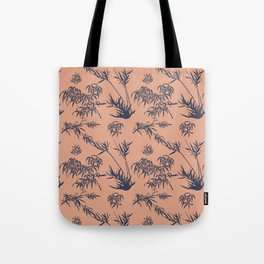 Bamboo Silhouettes in Salmon/Atlantic Navy Tote Bag