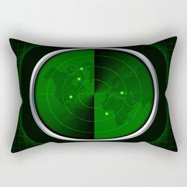vintage green old radar army military detection Rectangular Pillow