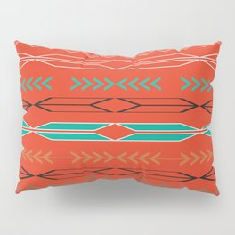 Navajo motifs in red Pillow Sham
