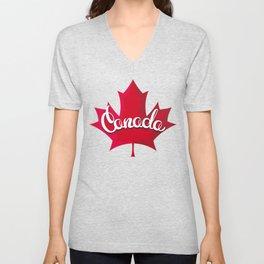 Canada Maple Leaf Unisex V-Neck