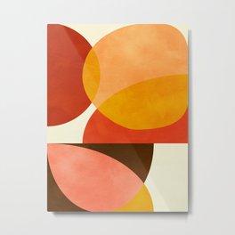 geometric autumn sun abstract Metal Print
