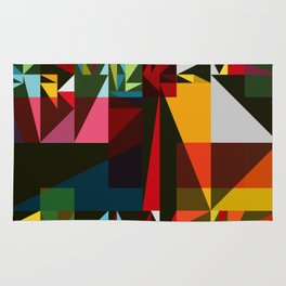 60's VooDoo Triangles Abstract Modern Art Rug