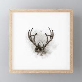 WHITETAIL DEER RACK Framed Mini Art Print