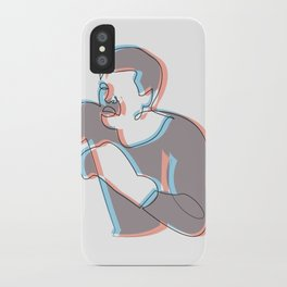Boxing Ali (coulour) iPhone Case