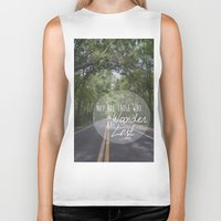 not all who wander Biker Tanks featuring Not all those who wander... by AnchorMySoul