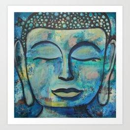 Blue Zen Buddha Art Print