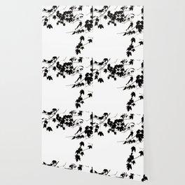 Silhouette Leaves Wallpaper