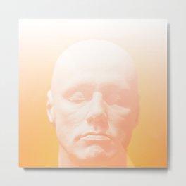 Thoughts orange Metal Print