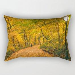 New York City Autumn Dusk in Central Park Rectangular Pillow