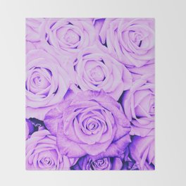 Some people grumble - Floral Ultra Violet Rose Roses Flowers Throw Blanket