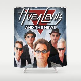 HUEY LEWIS AND THE NEWS TOUR DATES 2019 IJAD Shower Curtain