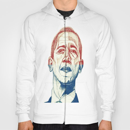 Red, White and Obama Hoody