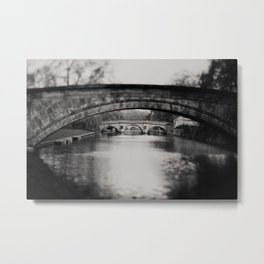 bridges over the River Cam print  Metal Print