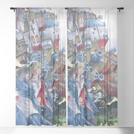 Howls Moving Castle Sheer Curtain