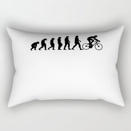 Cyclist Evolution Bike Cycling Gift Rectangular Pillow