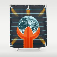 dune Shower Curtains featuring Dune by milanova