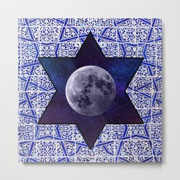 Moon star Metal Print