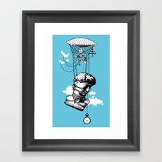 The Skies Are Full Of Strange Things Framed Art Print