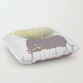 The Elephant's Garden - Version 2 Floor Pillow