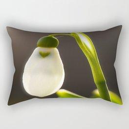 Beautiful Snowdrop  Rectangular Pillow